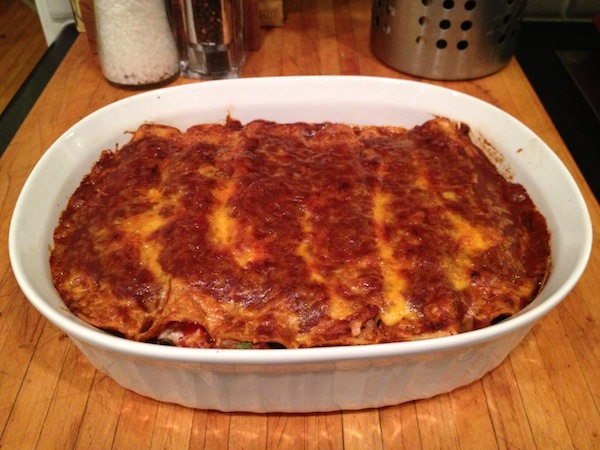 Black Bean and Winter Squash Enchiladas