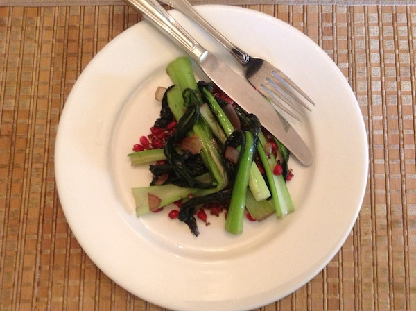 Quinoa with Pomegranate and Bok Choy