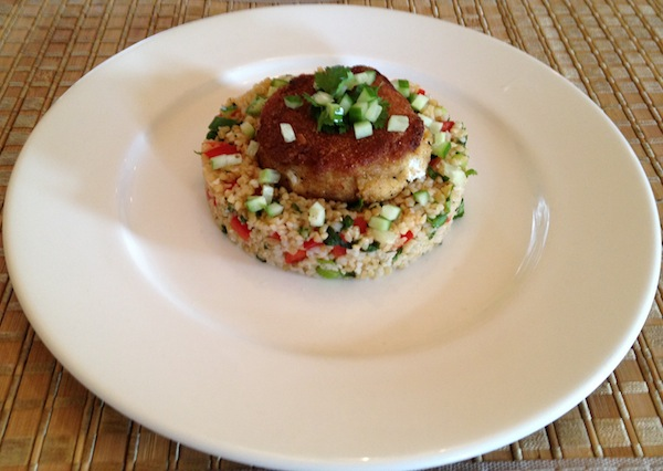 Tabbouleh with Labneh Cake