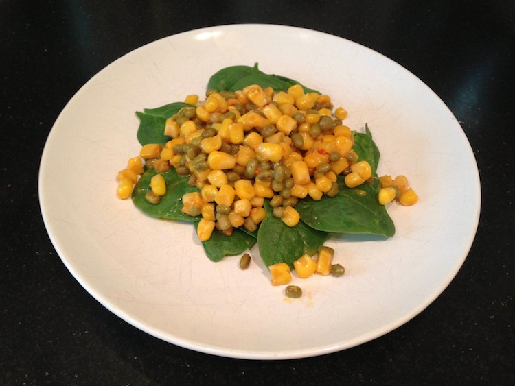 Mung Bean and Corn Salad