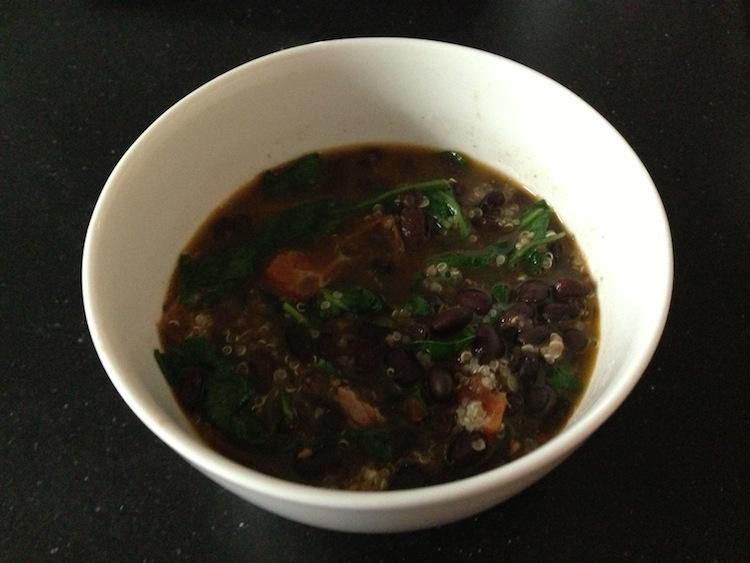 Tomato, Quinoa and Black Bean Soup