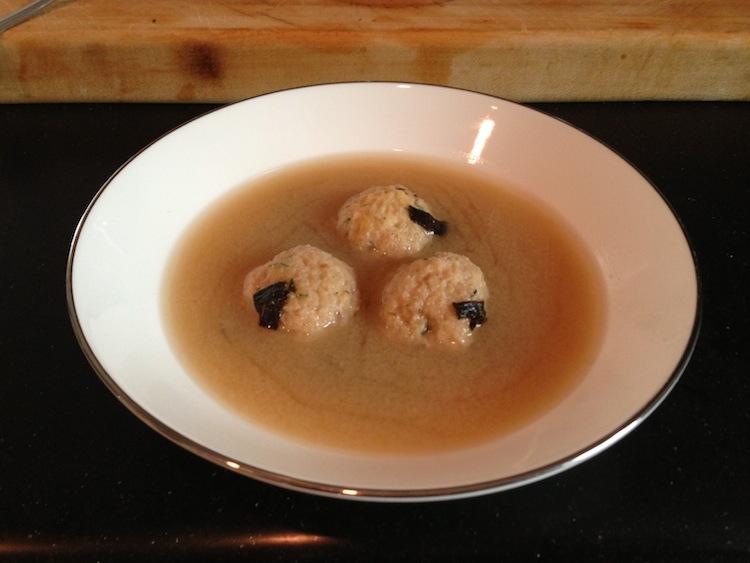 Matzo Ball Miso Soup