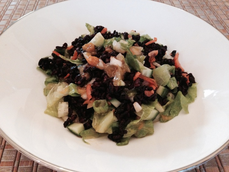 Black Rice Pilaf with Apricot Dressing